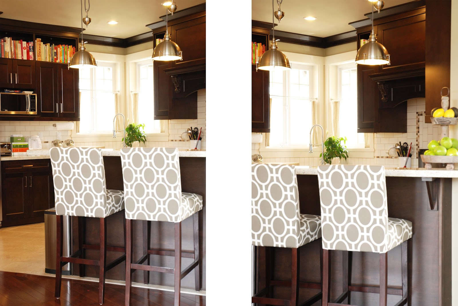 Kitchen counter stools with backs Photo - 1
