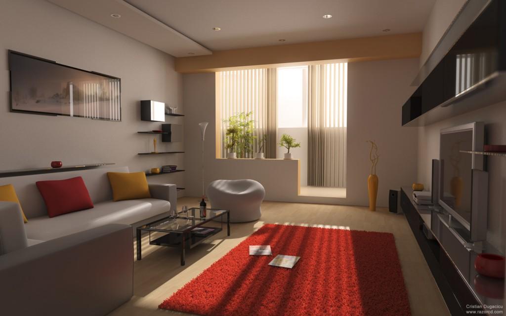 Зал с балконом в квартире дизайн в
