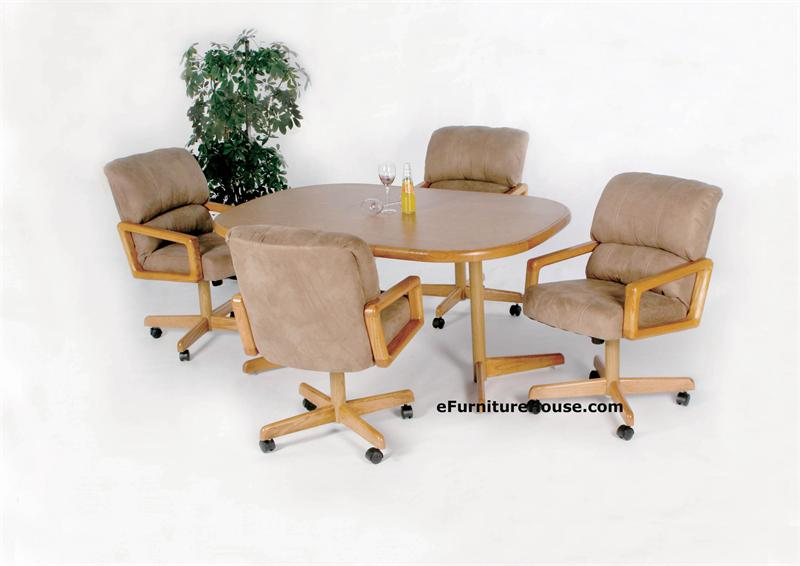 Kitchen dinette sets with casters