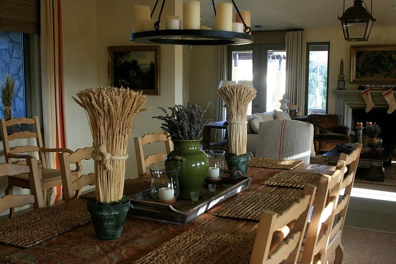 kitchen farm table photo 11 - Rustic Dining Room Decorating