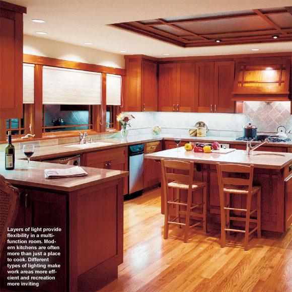 Kitchen fluorescent lighting Photo - 4