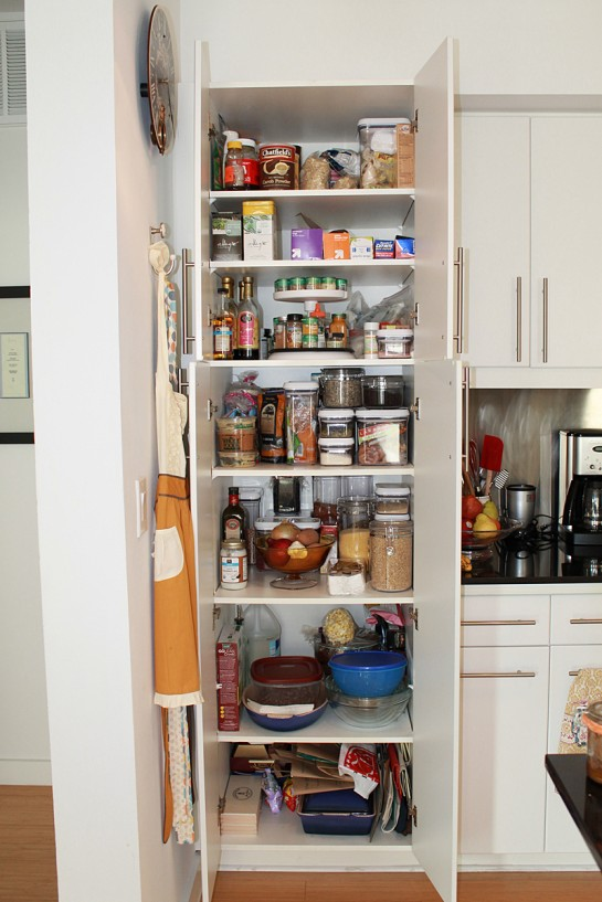 Pantry Cabinet: Kitchen Food Pantry Cabinet with Pantry Shelves ...