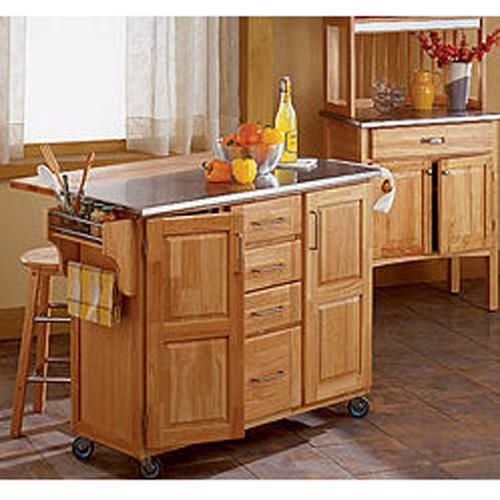 kitchen island cart with breakfast bar photo 6 kitchen home styles natural breakfast bar kitchen cart 14192873