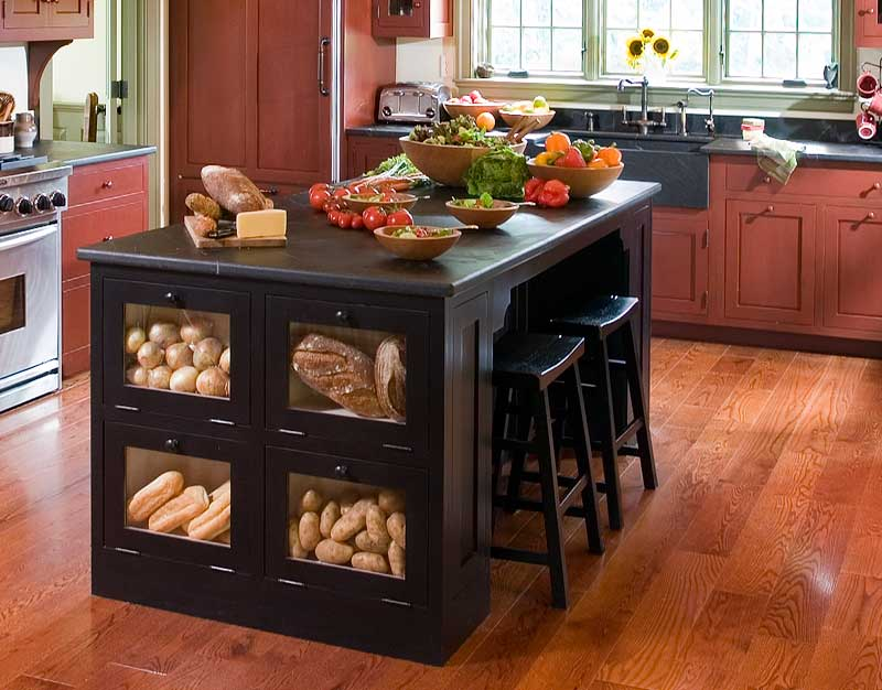 attractive Nantucket Distressed Black Finish Kitchen Island #9: Distressed Black. As Seen On S Fixer Upper Love The Gray Beadboard Island