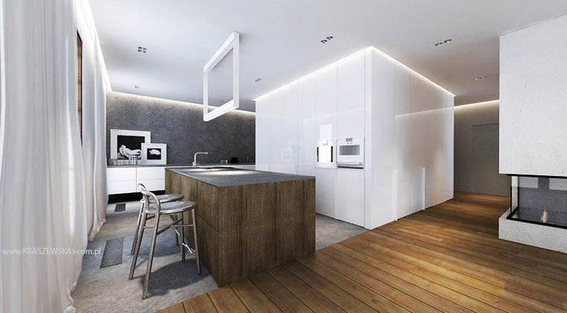 Kitchen island with cabinets Photo - 12