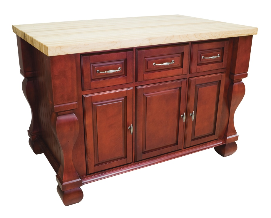 Tall Wooden Kitchen Table With Drawers And  Stools