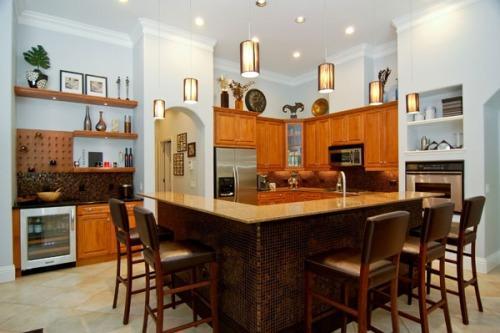 kitchen island with storage and seating photo - 5 | kitchen ideas