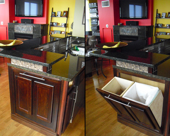 Other Photos To Kitchen Island With Trash Bin