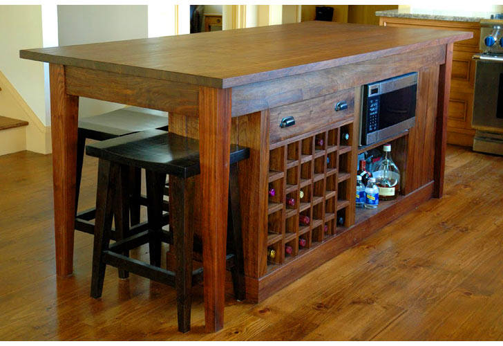 Other photos to Kitchen island with wine rack