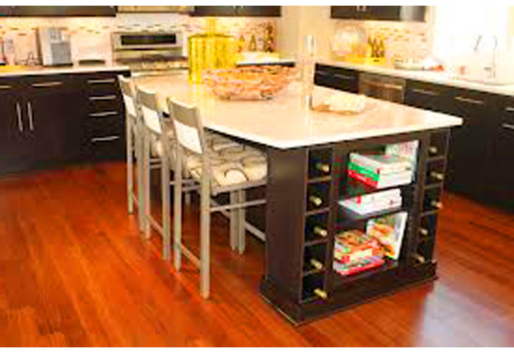 10 photos to Kitchen island with wine storage