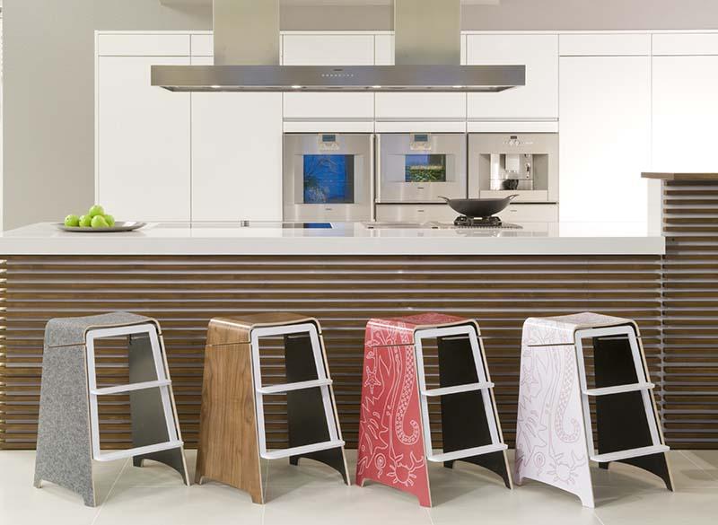 Kitchen ladder stool Photo - 12