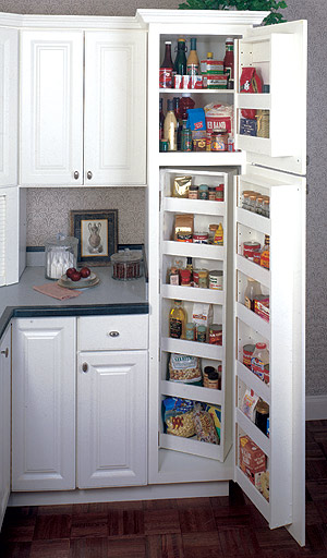 Kitchen pantry cabinet white Photo - 3