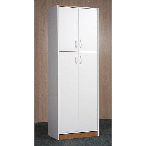 Kitchen pantry cabinet white Photo - 4
