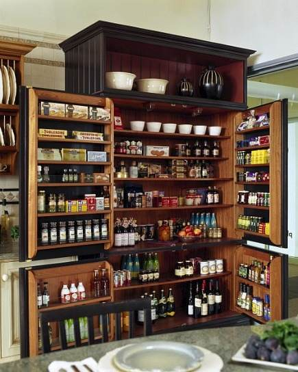 Kitchen pantry cabinet with pull out shelves Photo - 4