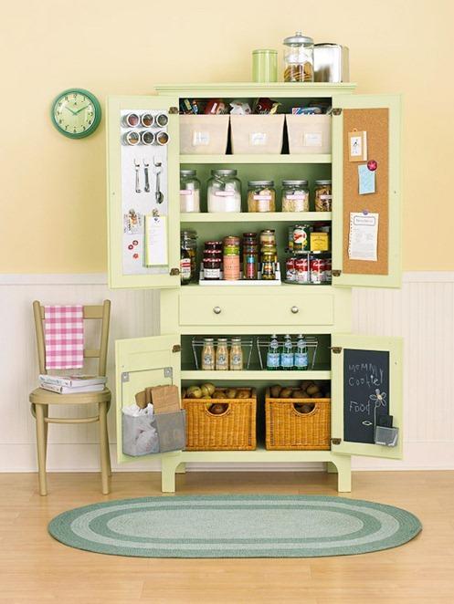 Kitchen pantry cabinets freestanding Photo - 12