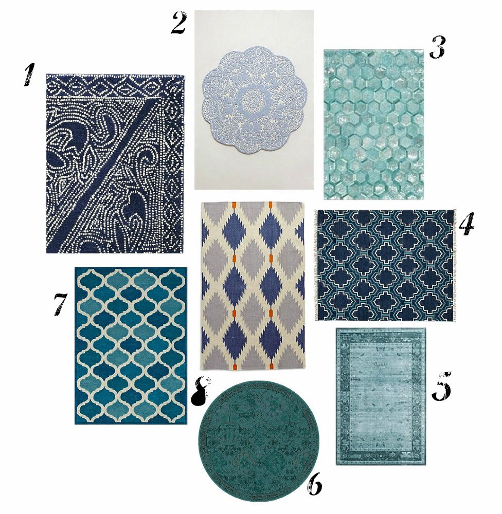 10 Photos To Kitchen Rugs Blue