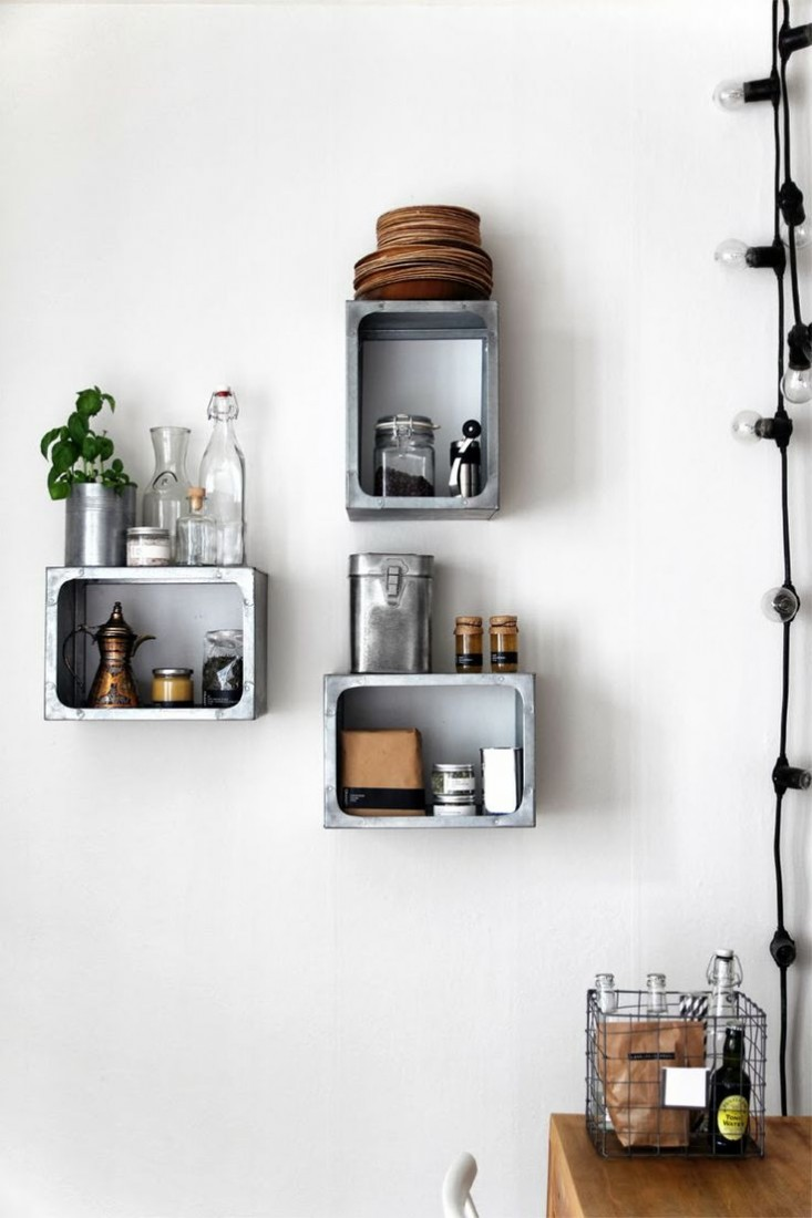 Kitchen shelves wall mounted kitchen ideas - Kitchen ideas with wall ...