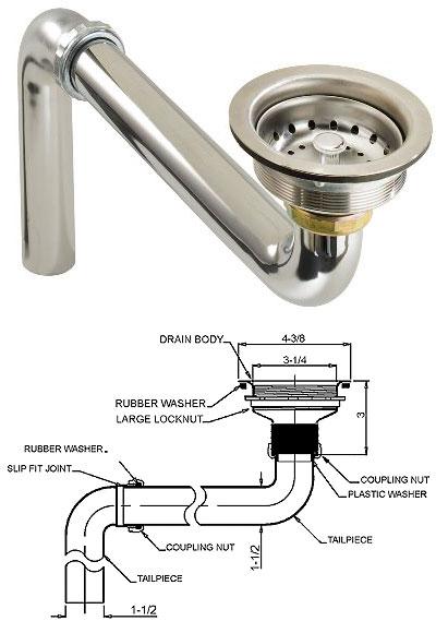 kitchen sink drain parts photo 7 - Kitchen Sink Parts