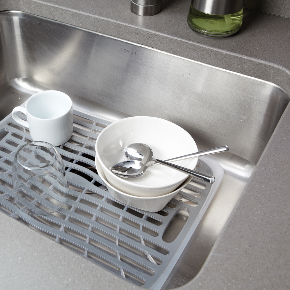 nice Kitchen Sink Protector Rack #2: ... Kitchen sink protector rack Photo - 11 ...