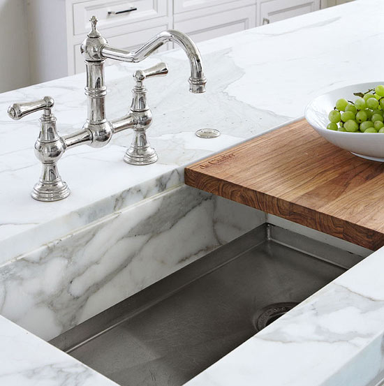 Kitchen sink with cutting board Photo - 7