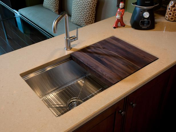kitchen sink with cutting board  kitchen ideas,