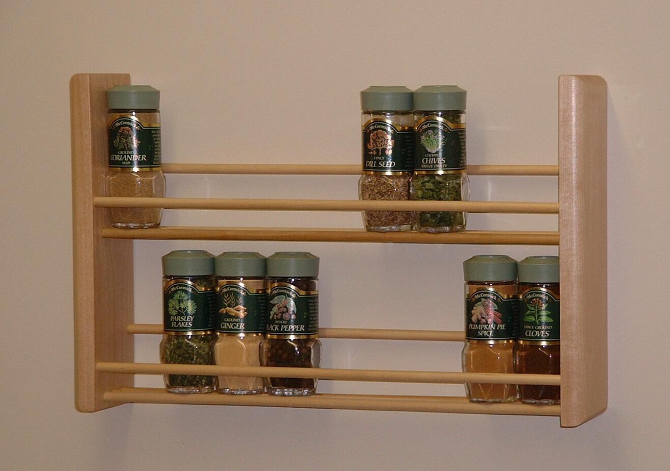 Kitchen Cabinet Spice Rack Organizer
