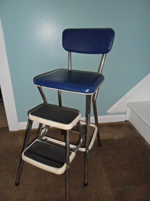 Kitchen step stool chair Photo - 2