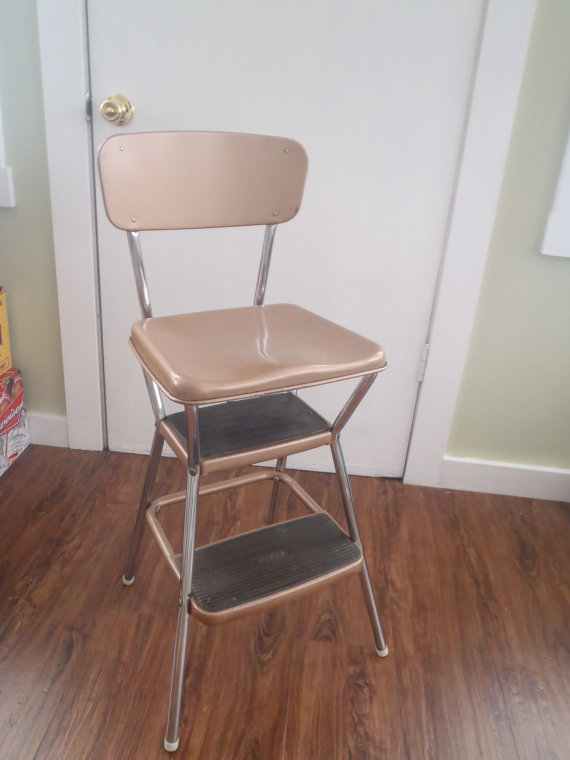 Kitchen step stool seat Photo - 12