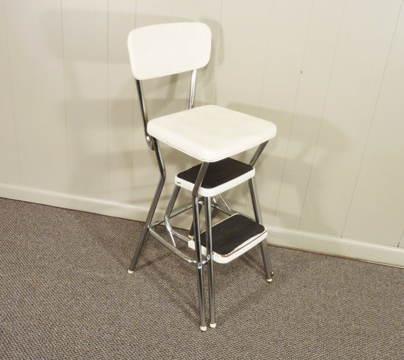 Kitchen step stool with seat Photo - 9