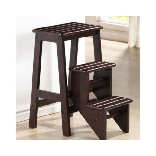Kitchen step stool with seat Photo - 11