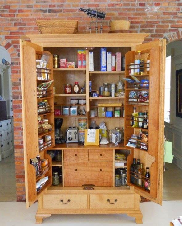 Kitchen storage cabinets free standing Photo - 6