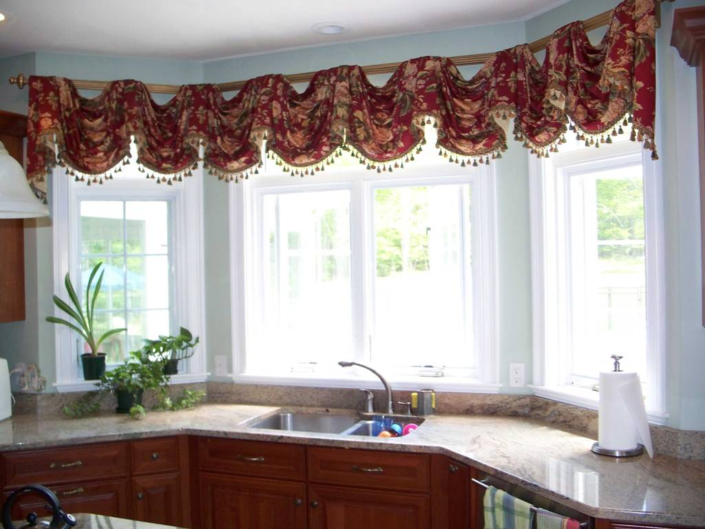 Swag curtains pattern - White Swag Kitchen Curtains Kitchen Swag Curtains Kitchen Ideas