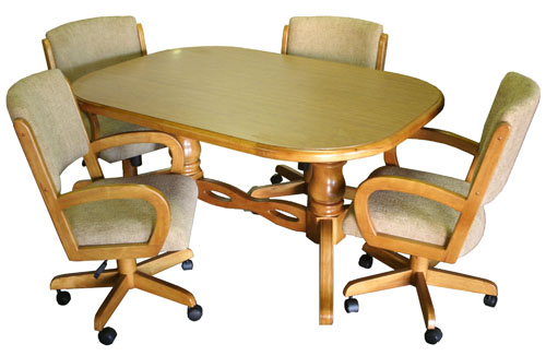 kitchen table and chairs with casters kitchen ideas