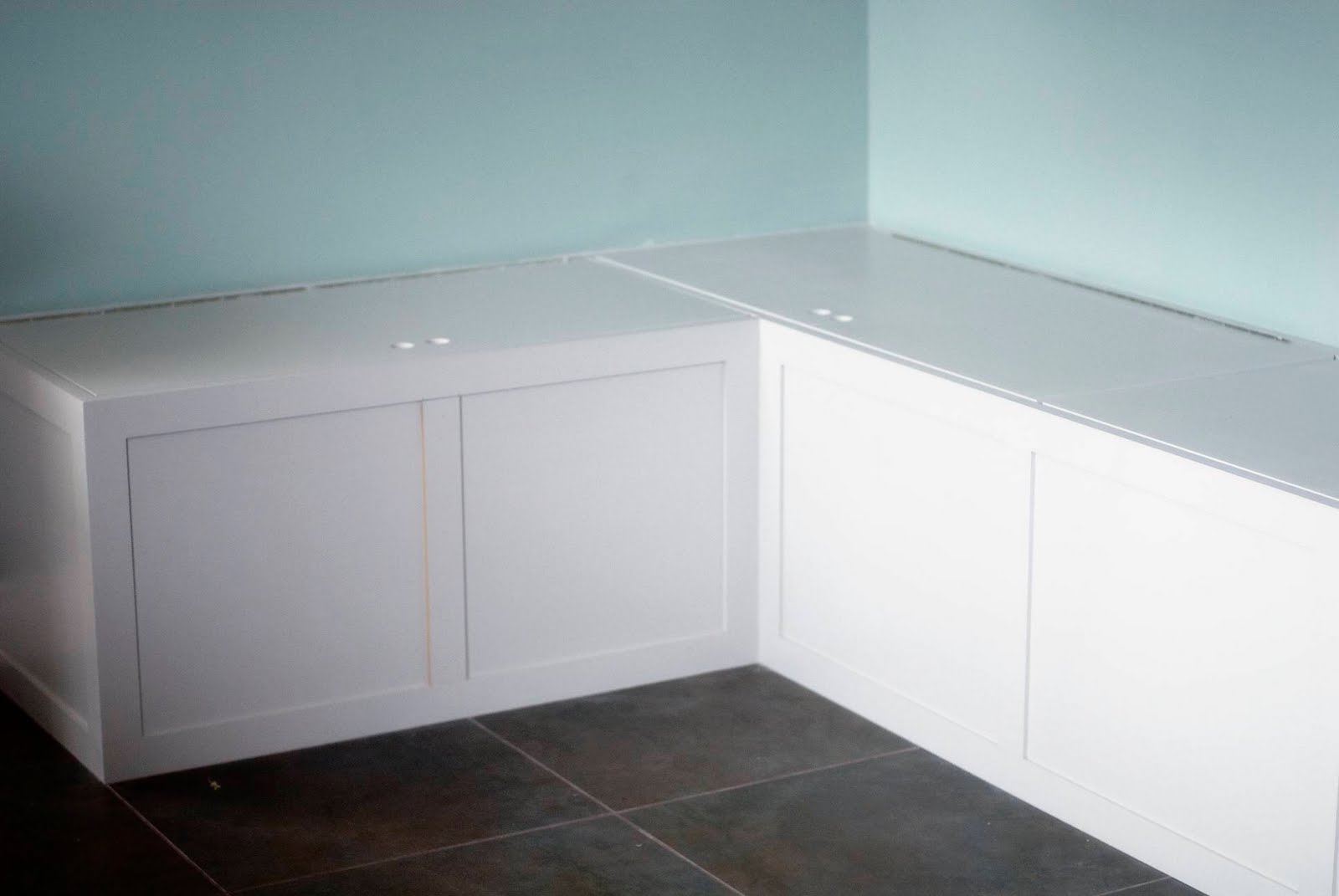 Kitchen Bench With Storage Kitchen Storage Bench Build An L Shaped Bench With Storage Dark