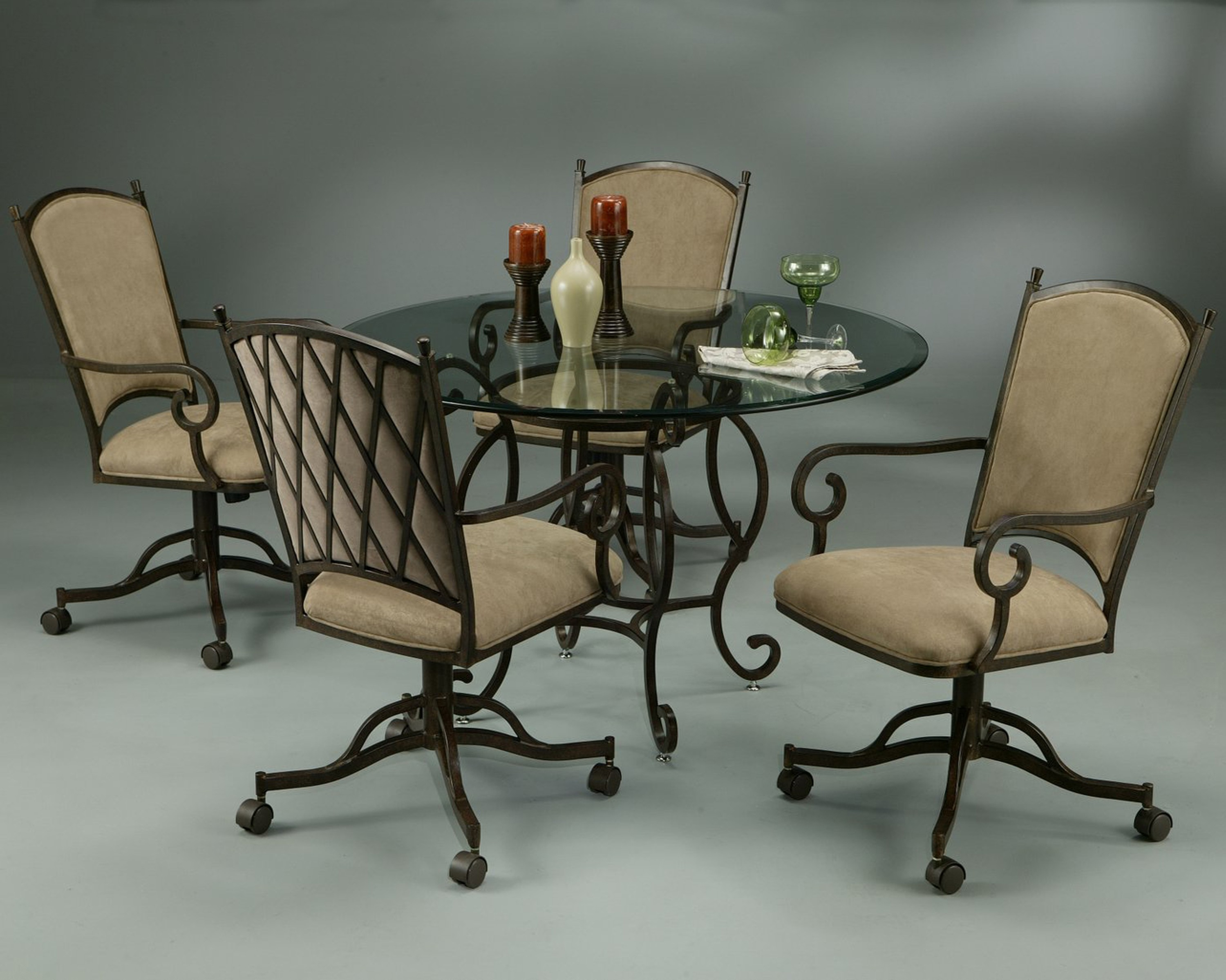 Kitchen table with rolling chairs 9