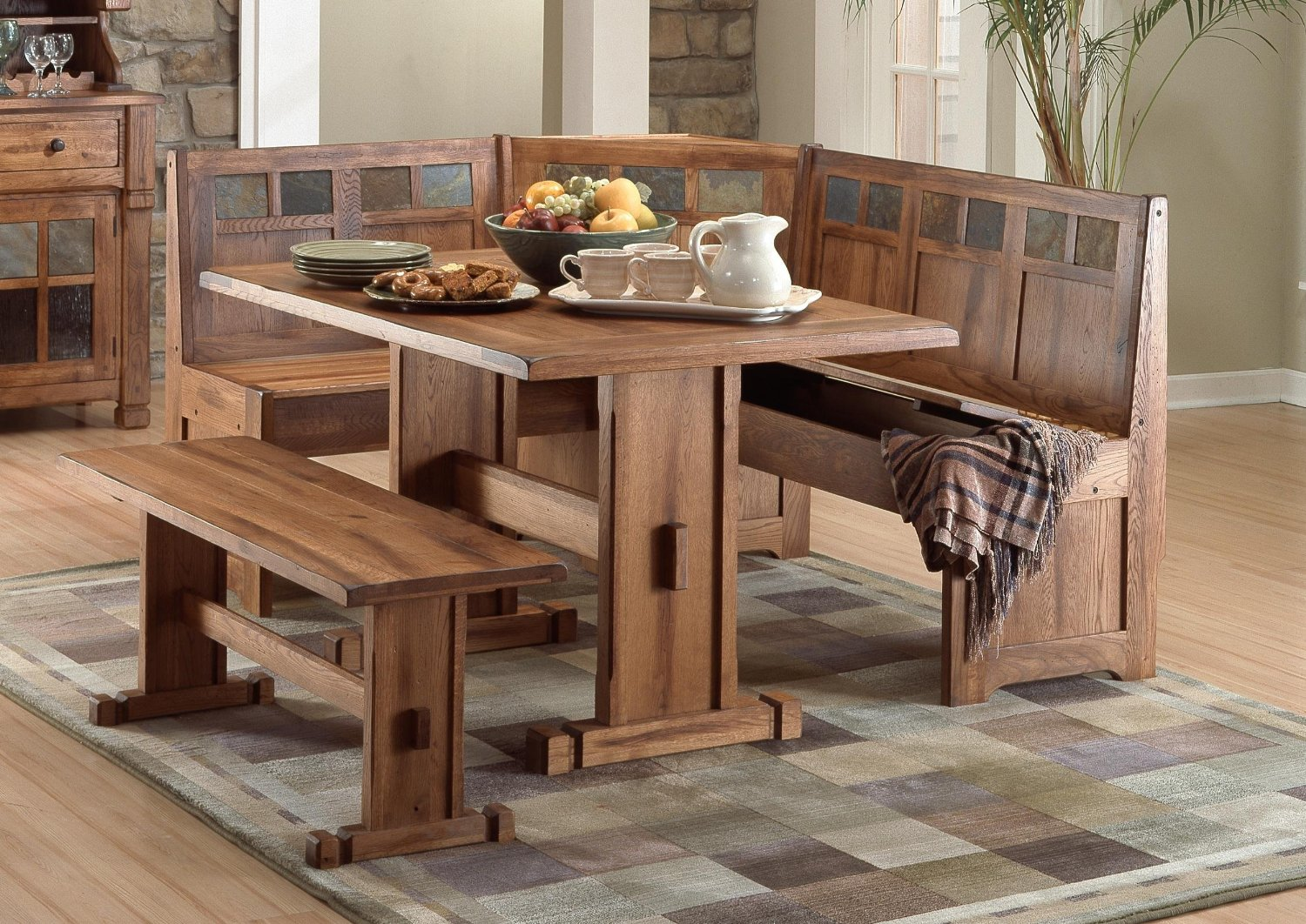 Kitchen tables with benches Photo - 1