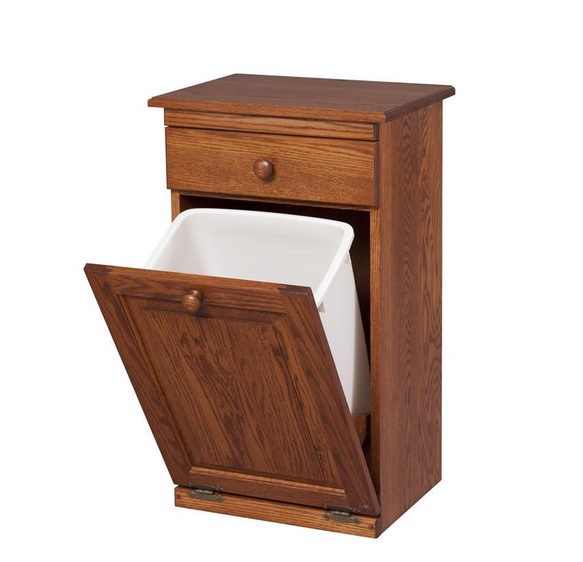 Kitchen trash can storage cabinet Photo - 1