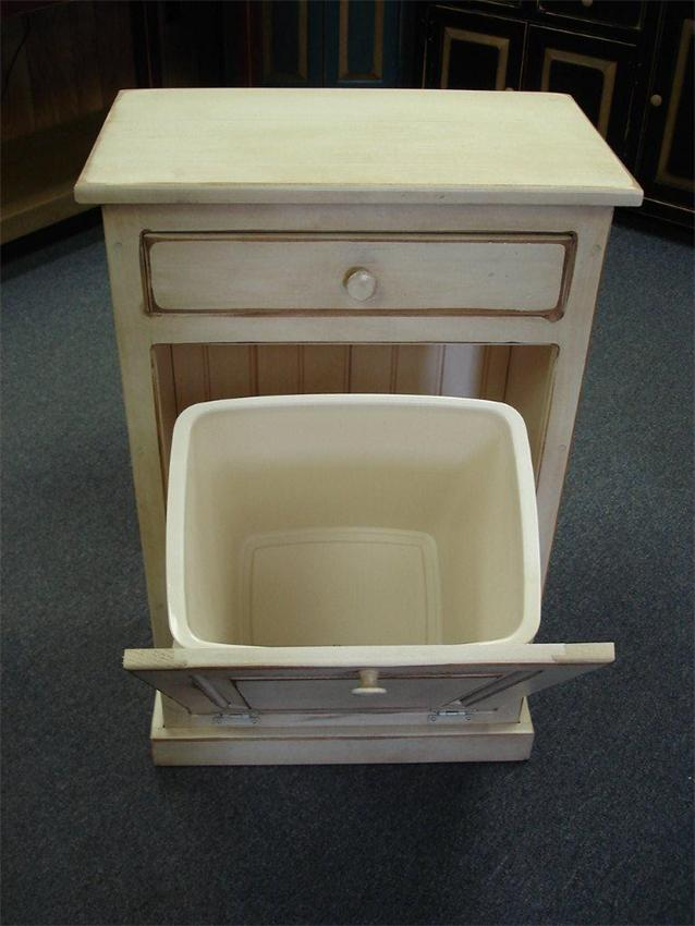Kitchen trash cans in cabinet roselawnlutheran What can i put on my sideboard