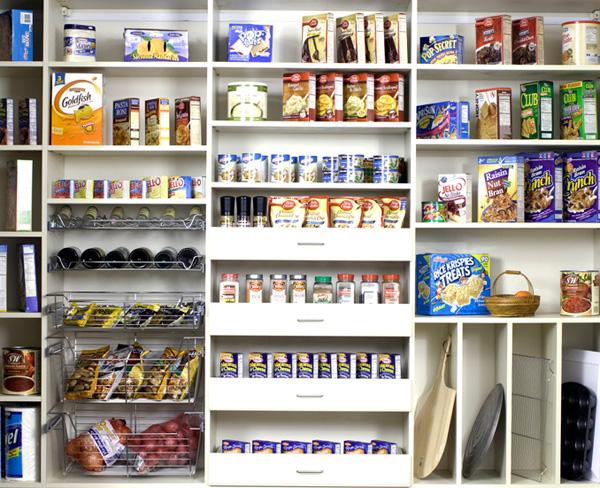 Organizing Kitchen Pantry Storage Cabinets.