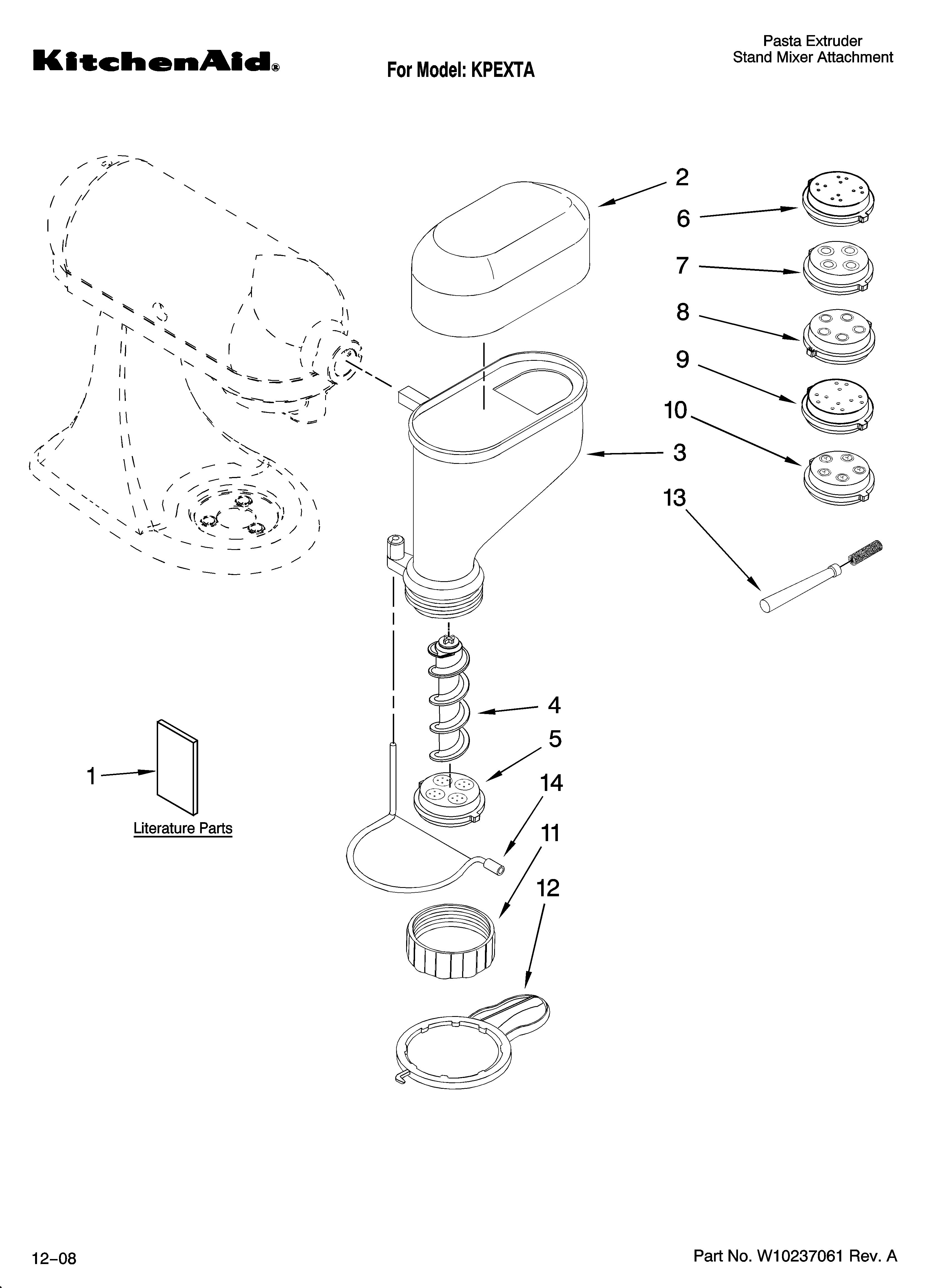 Kitchenaid Attachment Pasta Kitchen Ideas Mixer Parts Diagram Furthermore