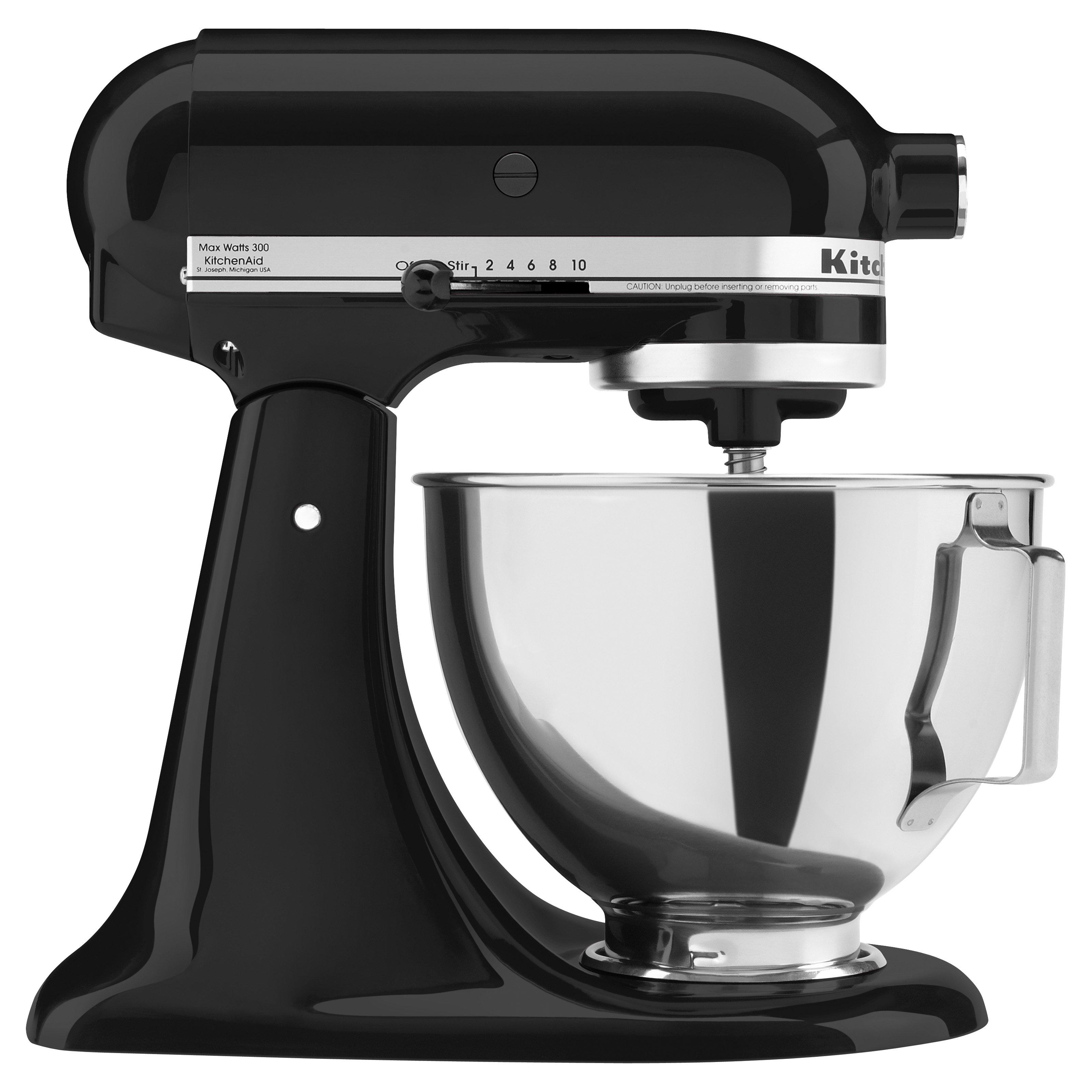 Black kitchen aid mixer kitchenaid proline quart mixer for Housse kitchenaid