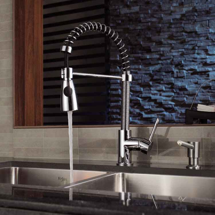 kraus commercial pre rinse chrome kitchen faucet - 28 images - kraus ...
