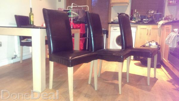 Leather kitchen chairs Photo - 10