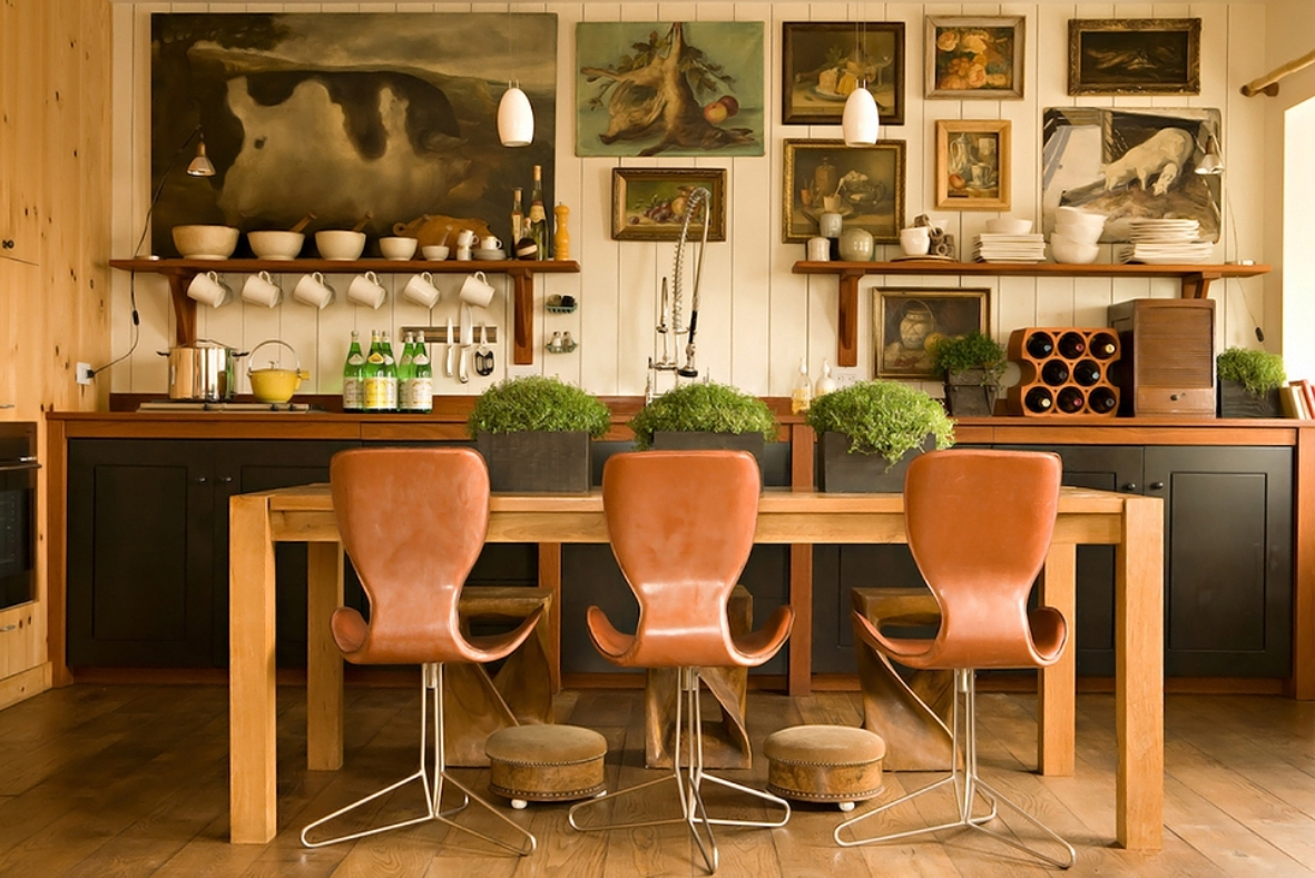 Leather kitchen chairs Photo - 11