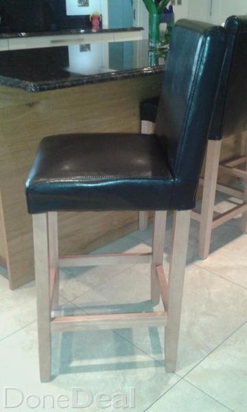 Leather stools kitchen Photo - 1