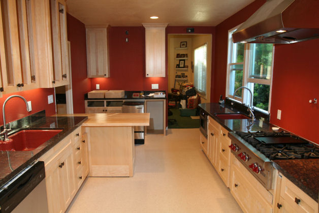 Red Kitchen Walls kitchens with red walls. white cabinets, black granite, red walls