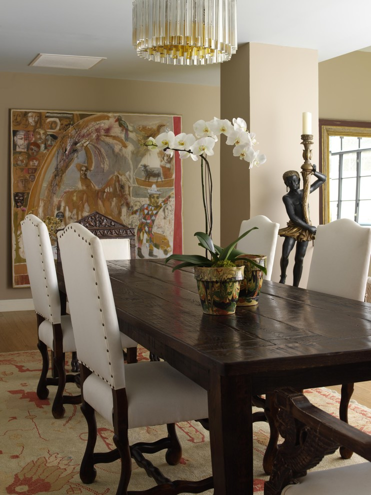 Rustic Upholstered Dining Chairs