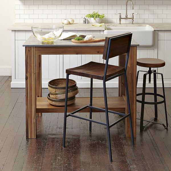 Metal top kitchen table kitchen ideas workwithnaturefo