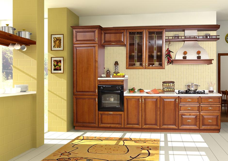 Oak kitchen pantry cabinet Photo - 12