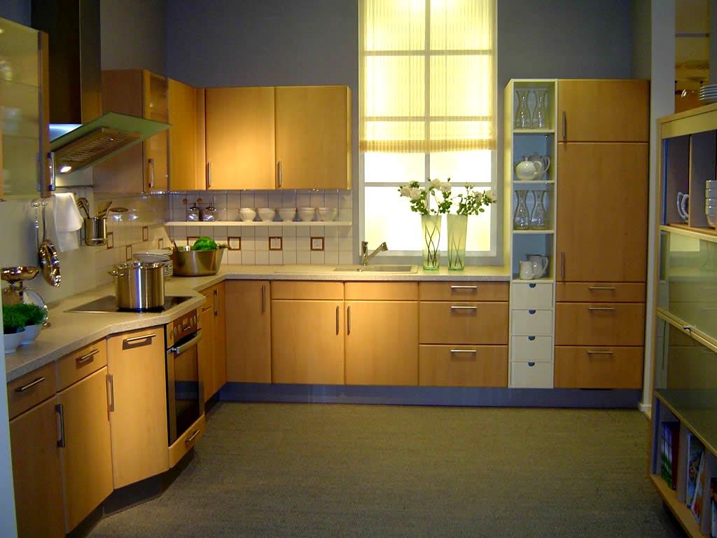 Oak kitchen pantry storage cabinet Photo - 11